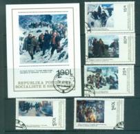 Albania 1979 Paintings Of Military Scenes + MS CTO Lot69862 - Albania