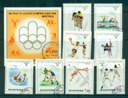 Albania 1975 Olympic Games Munich + MS CTO Lot69821 - Albania