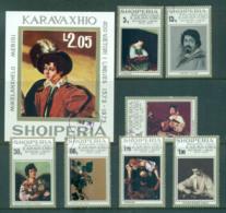 Albania 1973 Caravaggio Paintings + MS CTO Lot69787 - Albania