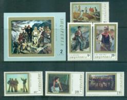 Albania 1971 Contemporary Albanian Paintings + MS MUH Lot69743 - Albania