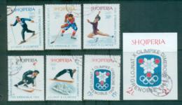 Albania 1967-68 Grenoble Winter Olympics + MS CTO Lot69622 - Albania