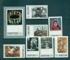 Albania 1972 Paintings + MS MUH Lot69770 - Albania