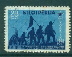 Albania 1947 Ianuguration Of Vithkuq Brigade 28q FU Lot31012 - Albania