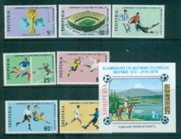 Albania 1970 World Cup Soccer Championships + MS MUH Lot69704 - Albania