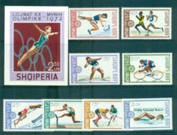 Albania 1972 Munich Olympics + MS MUH Lot69761 - Albania