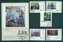Albania 1978 Working Class Paintings + MS CTO Lot69845 - Albania