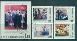 Albania 1980 Paintings + MS CTO Lot69876 - Albania