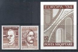 Albania 1994 Europa, Inventors + MS MUH - Albania