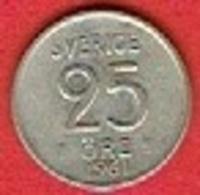 SWEDEN #  25 ØRE FROM 1961 - Suède