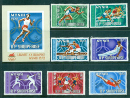 Albania 1971 Munich Olympics + MS MUH Lot69737 - Albania