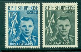 Albania 1961 Yuri Gagarin 50q & 11l MLH Lot31032 - Albania