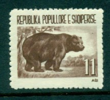 Albania 1961 11lek Brown Bear MLH Lot31028 - Albania