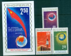 Albania 1971 China Space Developments + MS MUH Lot69731 - Albania
