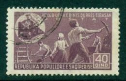 Albania 1947 Young Railway Labourers 40q FU Lot31011 - Albania