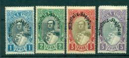 Albania 1928 King Zog Opt 1-5fr MLH Lot31002 - Albania