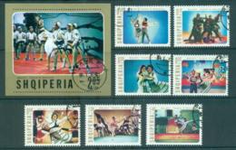 Albania 1976 Ballet, Mountain Girl + MS CTO Lot69831 - Albania