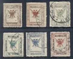"Albania 1917 Double Headed Eagle Asst ""As Is"" FU - Albania"