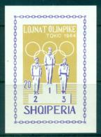 Albania 1964 Tokyo Olympcs IMPERF MS MUH Lot69503 - Albania