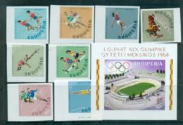Albania 1968 Mexico City Olympics IMPERF + MS MUH Lot69655 - Albania