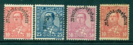 Albania 1928 King Zog Opt (one Double 50q) 10,10,25,50 MH Lot30998 - Albania