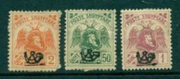 Albania 1920 Posthorn Opts (3)(faults) MNH/MH Lot31001 - Albania