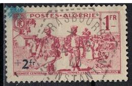 ALGERIE        N°  YVERT    160          OBLITERE       ( O   2/35 ) - Algérie (1924-1962)