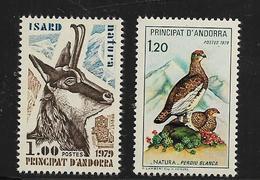 Timbres D'Adorre Francais De 1979  N°274/275  Neufs ** - Neufs
