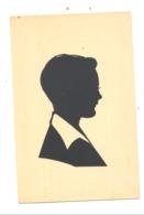 Silhouette, Ombre Chinois, Découpis - Grandeur Carte Postale (b246) - Silhouettes