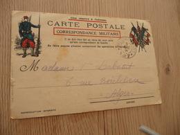 Guerre 14/18 CPFM Illustrée Trésors Et Postes 127 Pour Alger 1914 - Marcophilie (Lettres)
