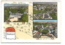 27 - HEUDICOURT - En Passant Par ... -Borne Kilomètrique -  3 Vues - Andere Gemeenten
