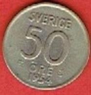 SWEDEN #  50 ØRE FROM 1954 - Suède