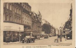Carte Postale Ancienne De Arras La Rue Gambetta - Arras