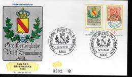 ALLEMAGNE FDC 1978 Poste Armoirie Timbre Sur Timbre - Poste