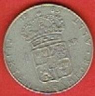 SWEDEN #  1 KRONE FROM 1963 - Suède