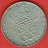 SWEDEN #  1 KRONE FROM 1966 - Suède