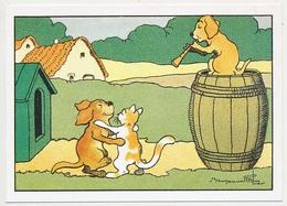 CPSM / CPM 10.5 X 15 Illustrateur BENJAMIN RABIER (1864-1939) Chien Musicien Chien Et Chat Dansant* - Rabier, B.