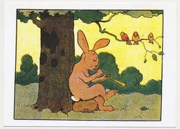 """CPSM / CPM 10.5 X 15 Illustrateur BENJAMIN RABIER (1864-1939) Lapin """"Roudoudou Jouant De La Flûte 1923"""" Oiseaux - Rabier, B."""