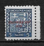 Slovakia 1939, 5h Overprinted Scott # 2,VF Mint Hinged OG (RN-6) - Slovakia