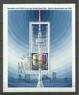 "DDR Bl. 30 ""Fernsehturm Berlin.""  Gestempelt.Mi  6,00 - Blocs"