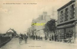 85 Croix De Vie, Quai De La République, Animée, Vieux Commerce...., éd Boutain 382 - Saint Gilles Croix De Vie