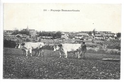 Cpa...paysage Dammartinois.....(dammartin-en-goele) ...attelage 4 Boeufs..roulage..animée.. - Attelages