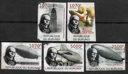 BURUNDI    N° 1489/92 BF 223 * * NON DENTELE  Dirigeables Zeppelins Hindenburg - Zeppelins