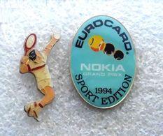 2 Pin Pin`s Tennis - Spieler + Nokia Eurocard 94 - Tennis