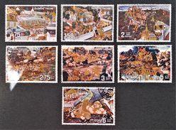 """FRESQUES """"RAMAYANA"""" 1973 - OBLITERES - YT 656/62 - MI 678/84 - Thaïlande"""