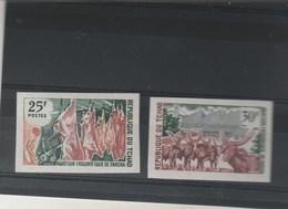 Tchad NON DENTELE Yvert   213 Et 214 **  Développement économique - Tchad (1960-...)