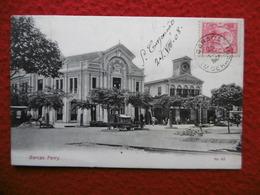 BRESIL CACHET CARACA SUR TIMBRE CACHET OURO PRETO MINAS RIO DE JANEIRO AMBULANTE CPA BARCAS FERRY 1908 - Brésil