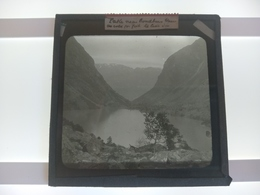 NORWAY LAKE NEAR BONDHUS Bondhusbreen Kvinnherad In Hordaland County, Nor  Plaque De Verre GLASS SLIDE  CIRCA EARLY 1900 - Diapositivas De Vidrio