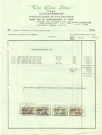Factuur Facture - Schoenen - Fabriek The Lina Shoe - Aalst 1959 - Textile & Vestimentaire