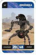 N°42 DROIDEKA < CARTE STAR WARS LECLERC 2018 - Star Wars