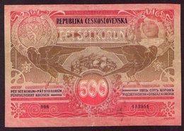 Czechoslovakia 500 Korun 1919, Alfonz Mucha - Tchécoslovaquie